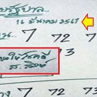 หวยรัฐบาล หวยอ.สิงห์ ชุดบน-ล่าง งวดวันที่ 16/03/61