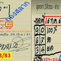 เลขชุดวัดดวง...กองสลาก งวดวันที่ 16/07/61 (ผลงานงวดที่แล้วเข้าล่าง 83)