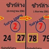 เลขเด็ด ชัวร์ล่าง 2 ชุดแม่นๆ งวดงวันที่ 16/08/61 สถิติเข้า 3 งวดซ้อน