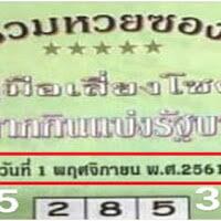 เลขเด็ด รวมหวยซองปกเขียว งวด 1/11/61