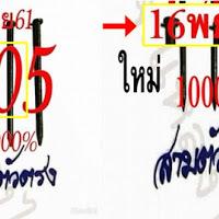 หวยดังหวยเด็ด หวยสามตัวตรง งวดวันที่ 16/11/61