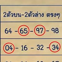 มาเเล้วเลขเด็ด 2ตัวบน-2ตัวล่างตรงๆ งวดวันที่ 16/2/62