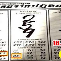 ตัวเลขจากปฏิทินจีน งวดวันที่ 16/4/62 ผลงานเข้า 2 งวดซ้อน