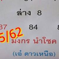 กลับมาเเล้ว  เลขเด็ด หวยเอ๋ ดาวเหนือ งวดวันที่ 16/5/62