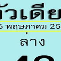 มาเเล้ว เลขเด็ด หวยตัวเดียว 2 ตัวล่าง งวดวันที่ 16/5/62