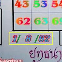 หวยอ.ยุทธนา เลขเด่นบน-ล่าง งวดวันที่ 1/8/62